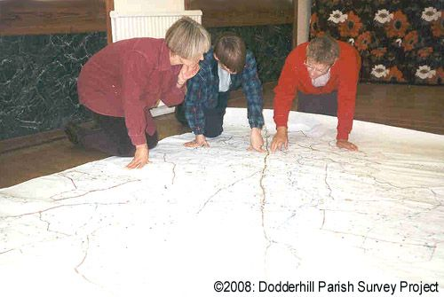 Studying the Dodderhill tithe map