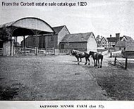 Astwood Manor Farm from the farmyard entrance 1920