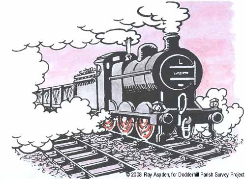 Train cartoon © 2008 Ray Aspden