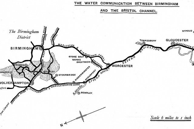 Canal map 1843