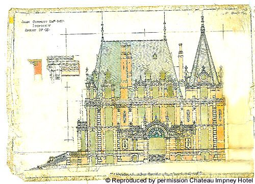 Chateau Impney - outside plan