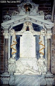 Vernon memorial Hanbury Church, 1721