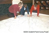 Studying the tithe map © dodderhill Parish Survey Project