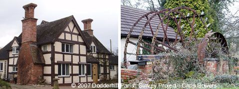 Mill Cottage and wheel © Dodderhill Parish Survey Project