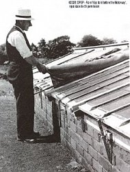 Alf Wormington shading the cold frames 1938